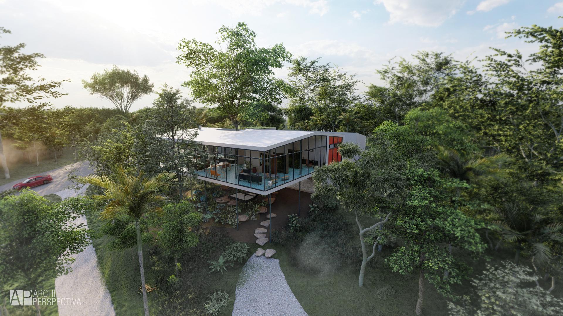 casa de vidro render render architecture brasil architecture lumion revit