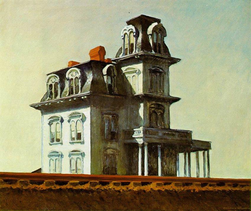 La casa por las vías del tren pintura por Edward Hopper (1925)