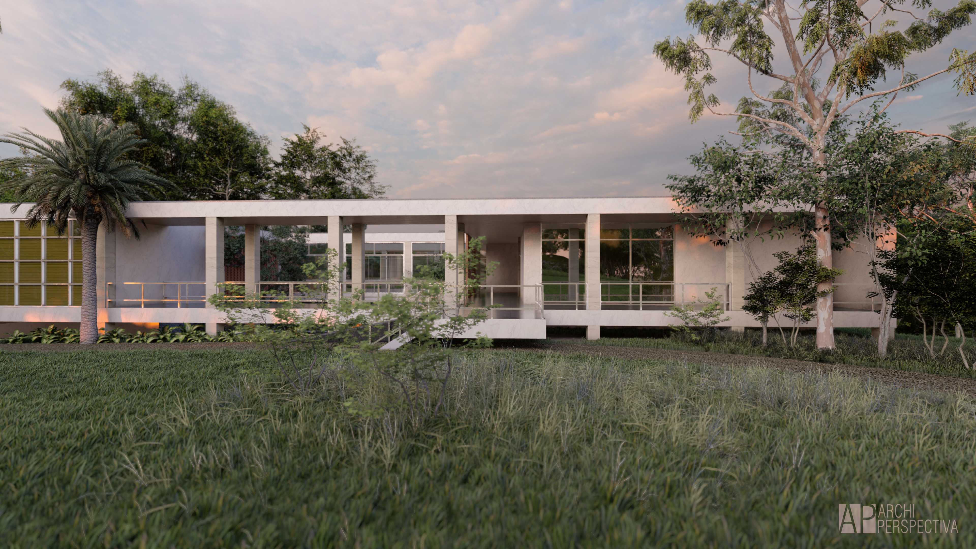 brasilian architecture lumio render